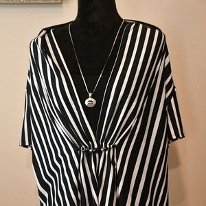 Notations Woman Layered Look Blouse Sz. 3X